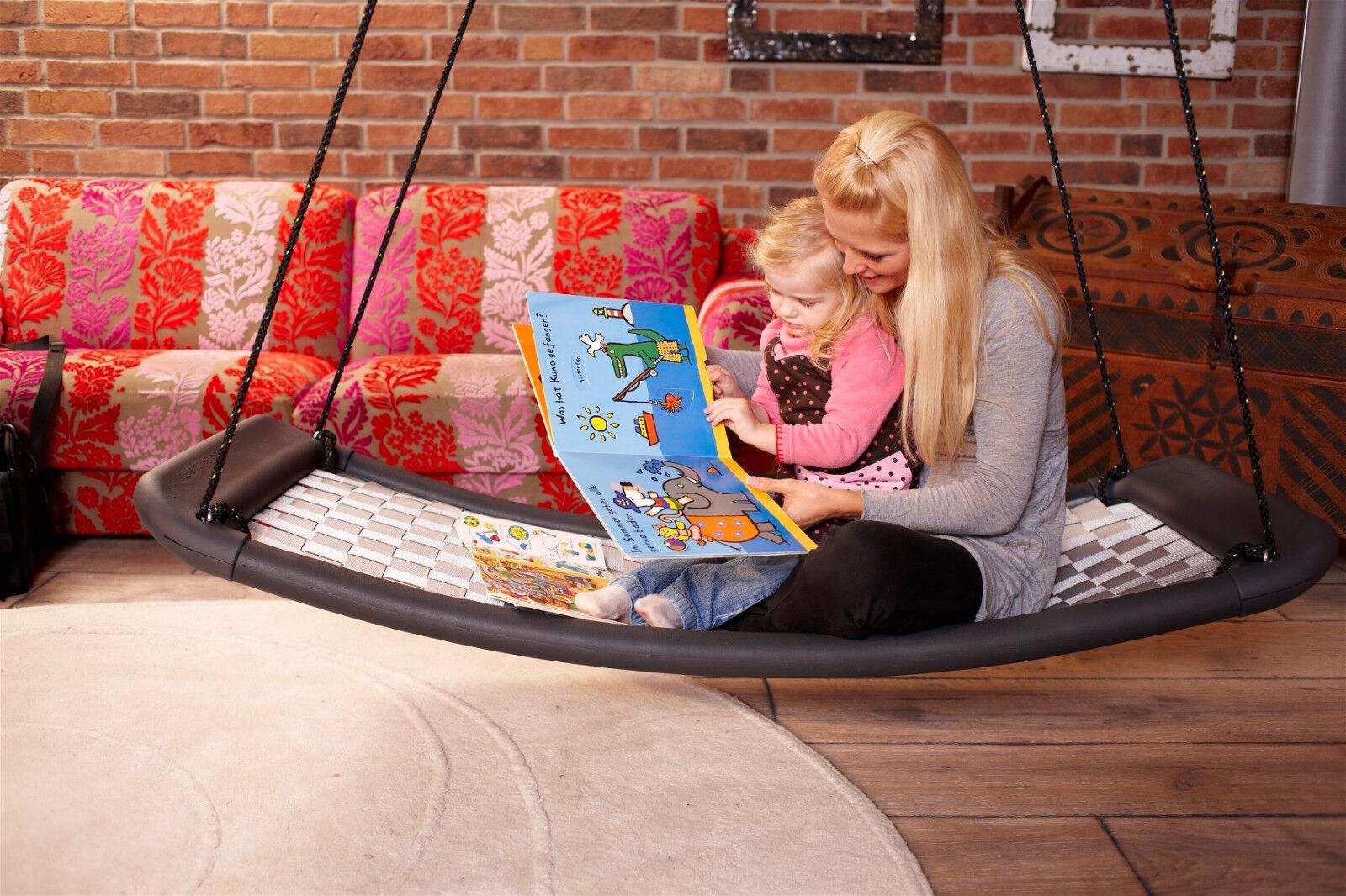 Lifestyle Standard EL weiß schwarz Garten Schaukel Relaxmöbel Familienschaukel