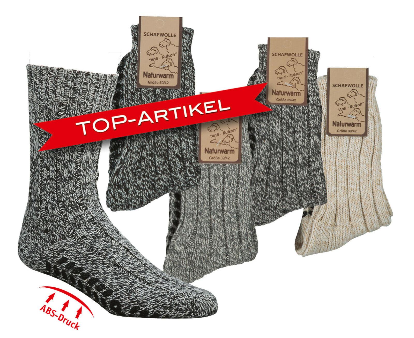 "Antirutsch-Socken,/""Norweger/"" Homesocks ABS"