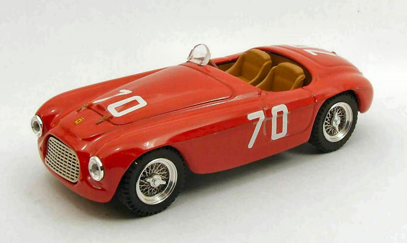 FERRARI 166 mm SPIDER  70 TARGA FLORIO 1952 E. Giletti 1:43 MODEL 0238 ART-MODEL