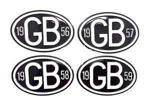 Universal-Vintage-Classic-Car-Metal-GB-Badge-with-Date-VW-Beetle-Camper-1955-79