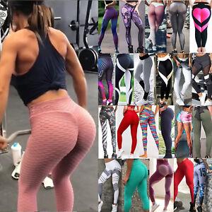 75cbba0a072b9 Image is loading Women-Yoga-Fitness-Leggings-Stretch-Shorts-Butt-Lift-