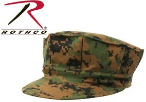 7ad9ef83 Image is loading Woodland-Digital-Camouflage-Military-Style-Marine-8-Point-