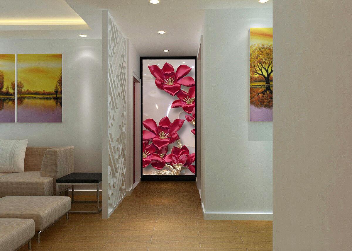 3D rot Flower Plant 87 Wallpaper Mural Wall Print Wall Wallpaper Murals US Carly