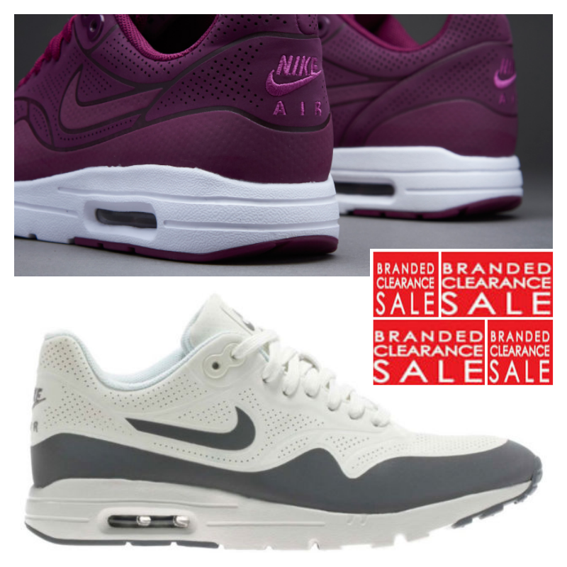 BNIB New femmes Nike Air max 1 ultra Moire 5 Mulberry blanc Taille 4 5 Moire 6uk 14abb7