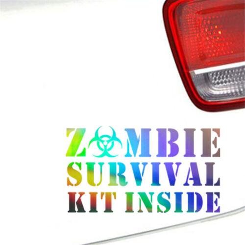 Zombie Survival Kit Inside Car Sticker Window Wall Bumper Vinyl Decal Decor Gift