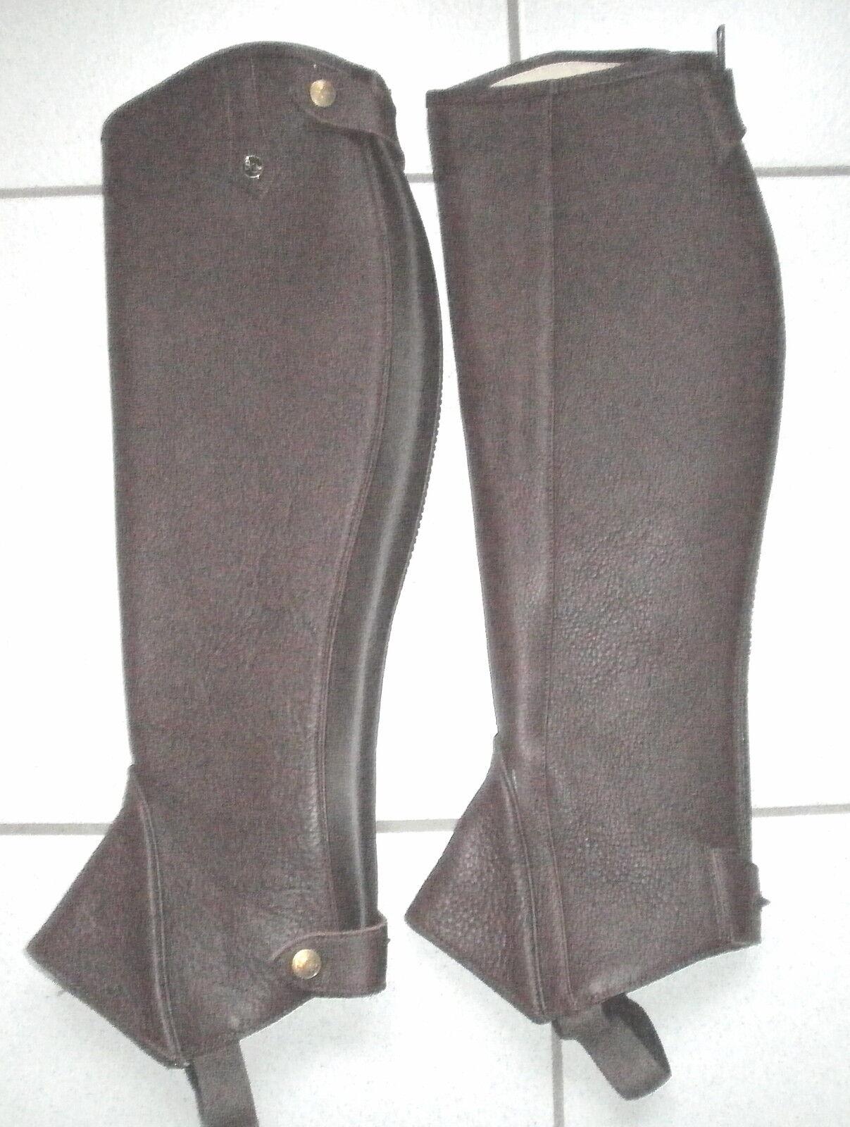 Sergio Grasso Chaps, braun, Leather Patterned, Größe S,