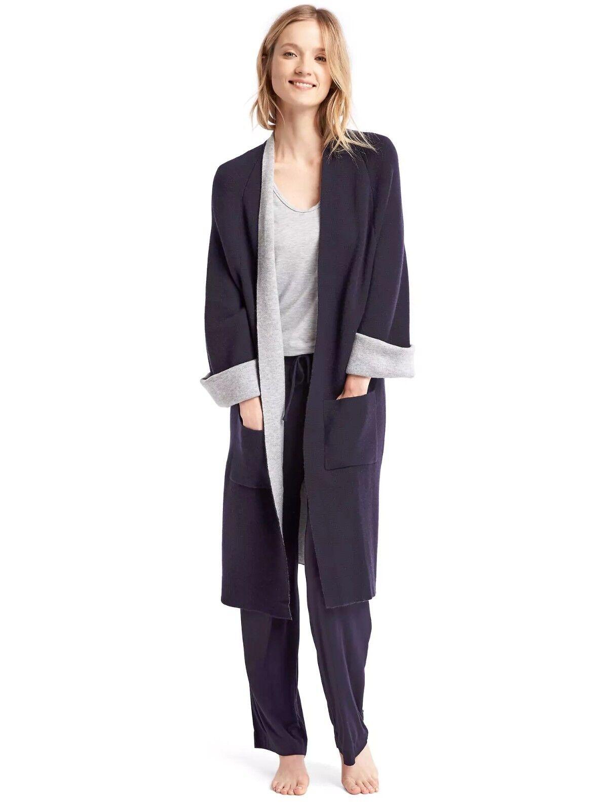 NWOT Gap Pure Body long cardigan, dark indigo SIZE M L     v