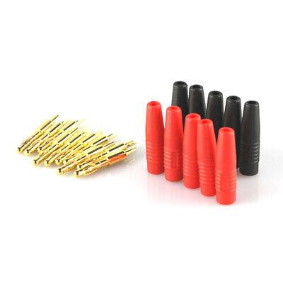 5 Paar 10 Stück 4mm Stecker Bananenstecker Stifte Plug Goldstecker für Ladegerät