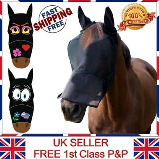 Warm Comfortable Breathable Adjustable Horse Full Face Mask Hood with Ears