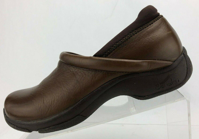 Dansko Professional Sabots en cuir marron Nursing Travail chaussures Femme 41 US 10.5 11