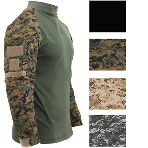 Image is loading Tactical-Camo-Combat-Shirt-Airsoft-Paintball-Military -Uniform- 78ef8648c