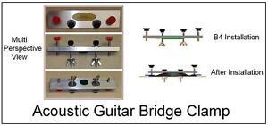 guitartechs bridge clamp 1 for acoustic guitar parallel version luthier tool ebay. Black Bedroom Furniture Sets. Home Design Ideas