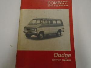 1970 dodge b100 b300 compact van wagon service shop repair manual rh ebay com 1991 Dodge B350 Van Dodge B200