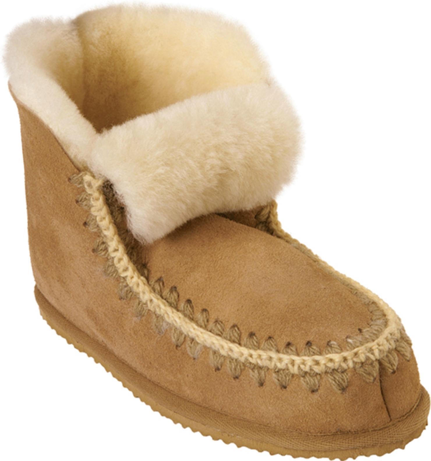 Pastor Pia señoras para mujer zapatillas de de de arranque completo de piel de oveja WAM Cómoda Marrón Castaño  muchas sorpresas