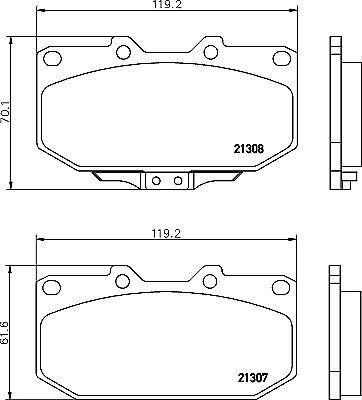 5 YEAR WARRANTY GENUINE Mintex Front Brake Pad Set MDB2911 BRAND NEW