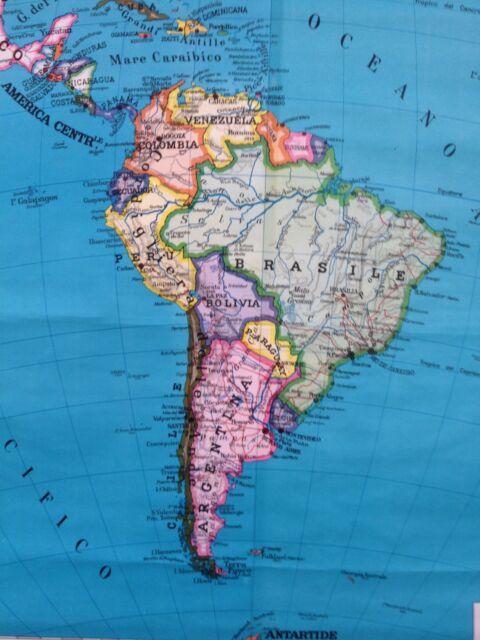 Cartina Geografica Europa Meridionale.Carta Geografica America Sud Vintage 1 10 000 000 Scolastica Politica Ebay