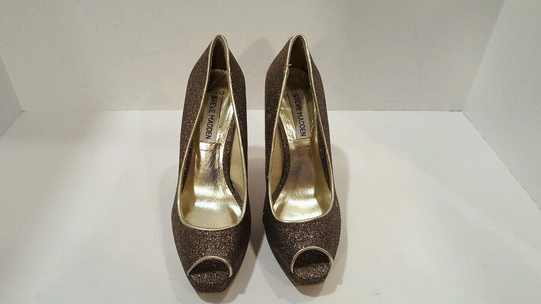 Steve Color Madden Womens Sparkly Multi Color Steve Open Toe Heels Size 7 eda99c