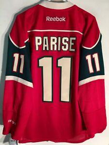 best sneakers e5588 bbbb0 Details about Reebok Premier NHL Jersey Minnesota Wild Zach Parise Red sz L