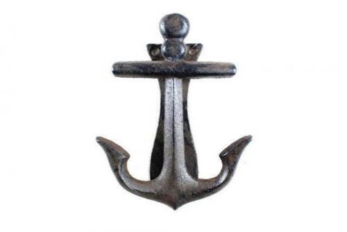 """Nautical Home Cast Iron Decorative Anchor Door Knocker 6/"""" Antique Anchor"""