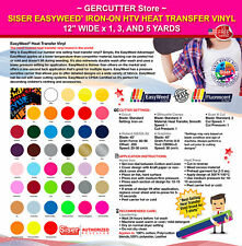 "Siser easyweed iron-on htv heat transfer vinyl 12"" wide x 1, 3, and 5 yards"