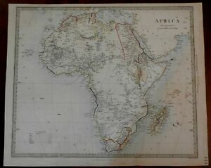 African-Continent-1860-Stanford-SDUK-transitional-engraved-map