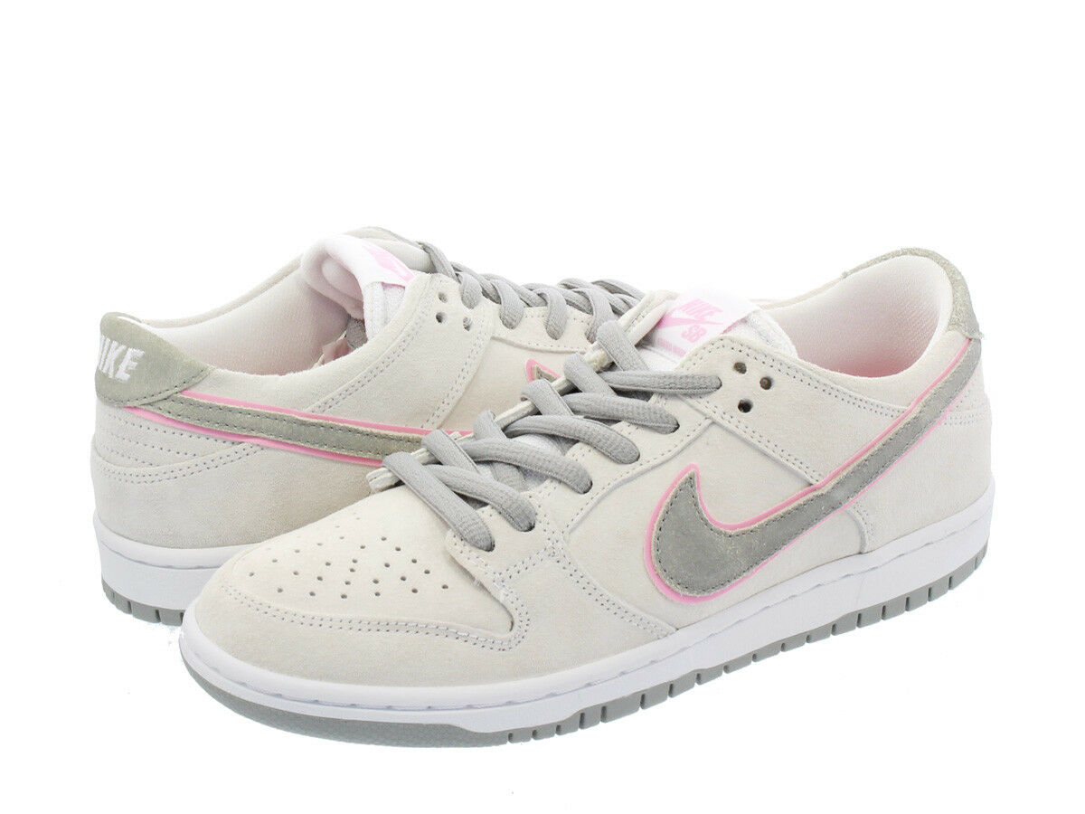 Nike SB ZOOM DUNK LOW PRO IW White Pink Silver 895969-160 Men's Shoes Size 7.5