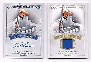 2016-Goodwin-Champions-Relic-Card-and-Autograph-Michal-Smolen-Kayaking