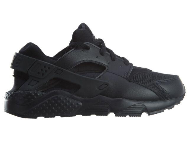 Kids Nike Huarache Run PS Triple Black 704949-016 US 3y