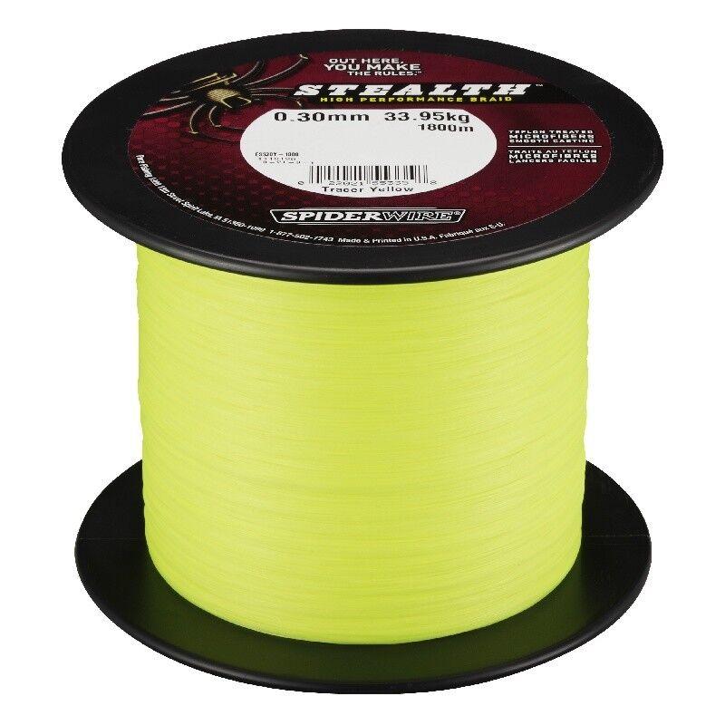 SPIDERWIRE STEALTH giallo 0,25mm 3000m 3000m 3000m 18,92kg intrecciato lenza giallo KVA 870243