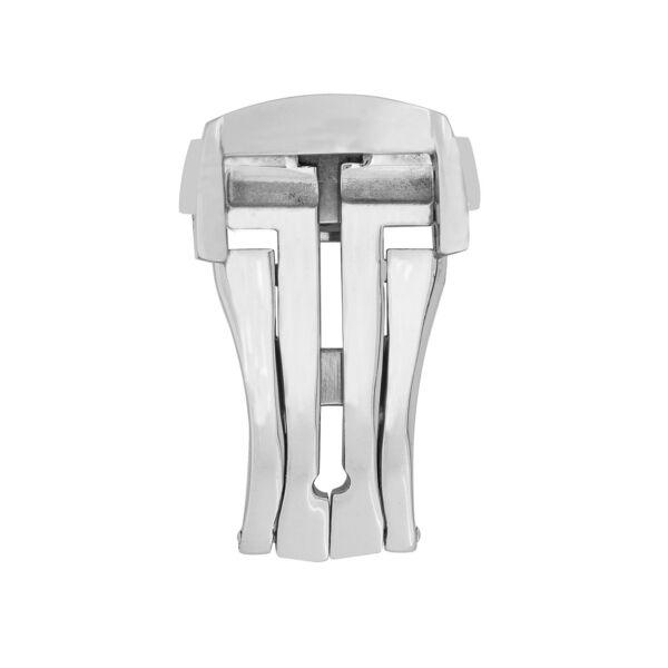 Polished Stainless Steel Folding Deployment Clasp (18mm/20mm) Bequem Zu Kochen