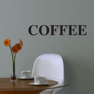 COFFEE KITCHEN WALL ART STICKER DECAL CAFE RESTAURANT DRINK MUGS C18