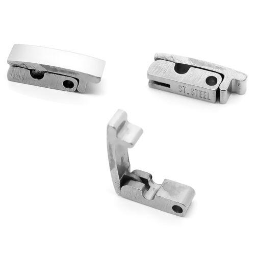Fermoir Bracelet Clapet Acier Inoxydable 9 Dimensions au Choix Lot 1 5 ou 10