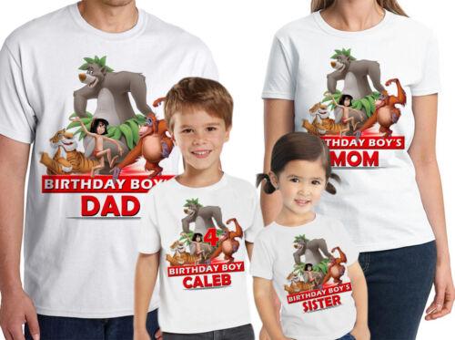 Jungle Book shirt personnalisé nom-âge Jungle Book Personnalisé Famille Anniversaire Shirt