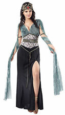 Onorevoli DUSA Costume Nero & Verde da Donna Halloween Vestito UK 10-14