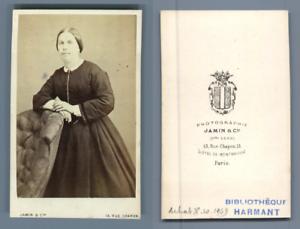 Confiant Jamin, Paris, à Identifier Vintage Cdv Albumen Carte De Visite, Cdv, Tirage Al Facile à RéParer