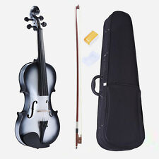 3/4 Size Student Violin Maple Fingerboard +Case +Bow+Bridge +Rosin-B&W