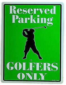 * Parking Golf Golfspieler Poster Parkschild Golfer Deko Club Schild *685