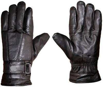 Special Winter Leather Gloves Soft Men Boys Male Riding driving Glove Bike