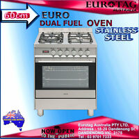 Euro Appliances 60cm Dual Fuel Freestanding Oven Esd600eusx Rrp$1899.00