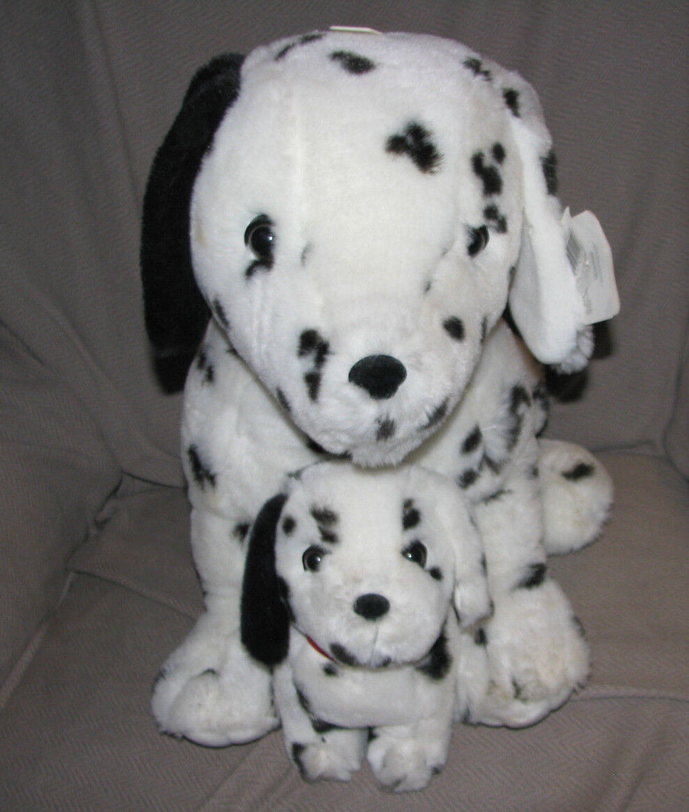 SOFT EXPRESSIONS DANDEE STUFFED PLUSH DALMATIAN DALMATION PUPPY DOG MOM BABY NEW