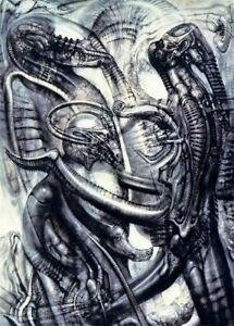 Hr Giger Li II Art fabric Poster Wall Decor 44x 24 inch 149
