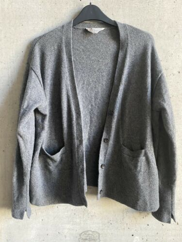 Everlane Cashmere Gray Cardigan Sweater Jacket Med