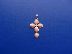 Bellissima-croce-con-corallo-rosa-e-oro-18-kt