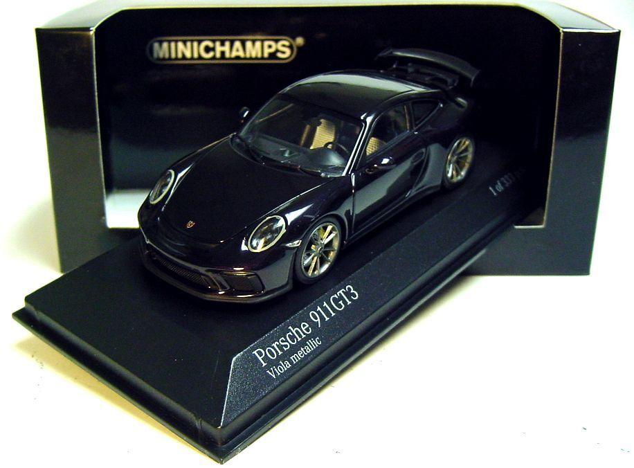calidad garantizada 1 43 Minichamps 2017 Porsche 911 991 II GT3 púrpura púrpura púrpura (púrpura) se reunió. edición limitada de 333 piezas. nuevo  tienda de pescado para la venta
