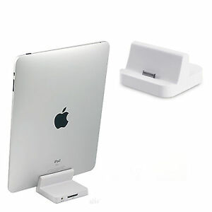 charger desktop dock stand docking station 8 pin audio for ipad 2 3 4 charging ebay. Black Bedroom Furniture Sets. Home Design Ideas
