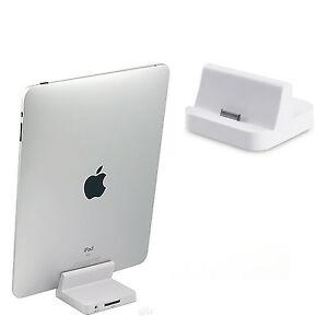 charger desktop dock stand docking station 8 pin audio for ipad 2 3 4 charging ebay. Black Bedroom Furniture Sets. Home Design Ideas