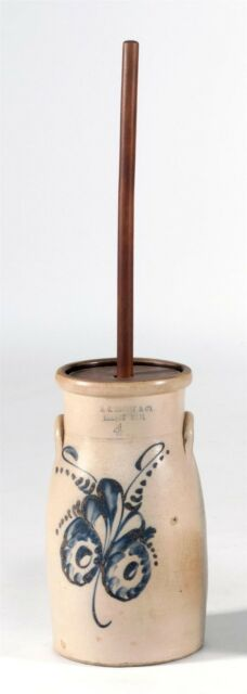 "STONEWARE BUTTER CHURN Impressed mark for ""H.C. Tenney & Co. Orange M... Lot 634"