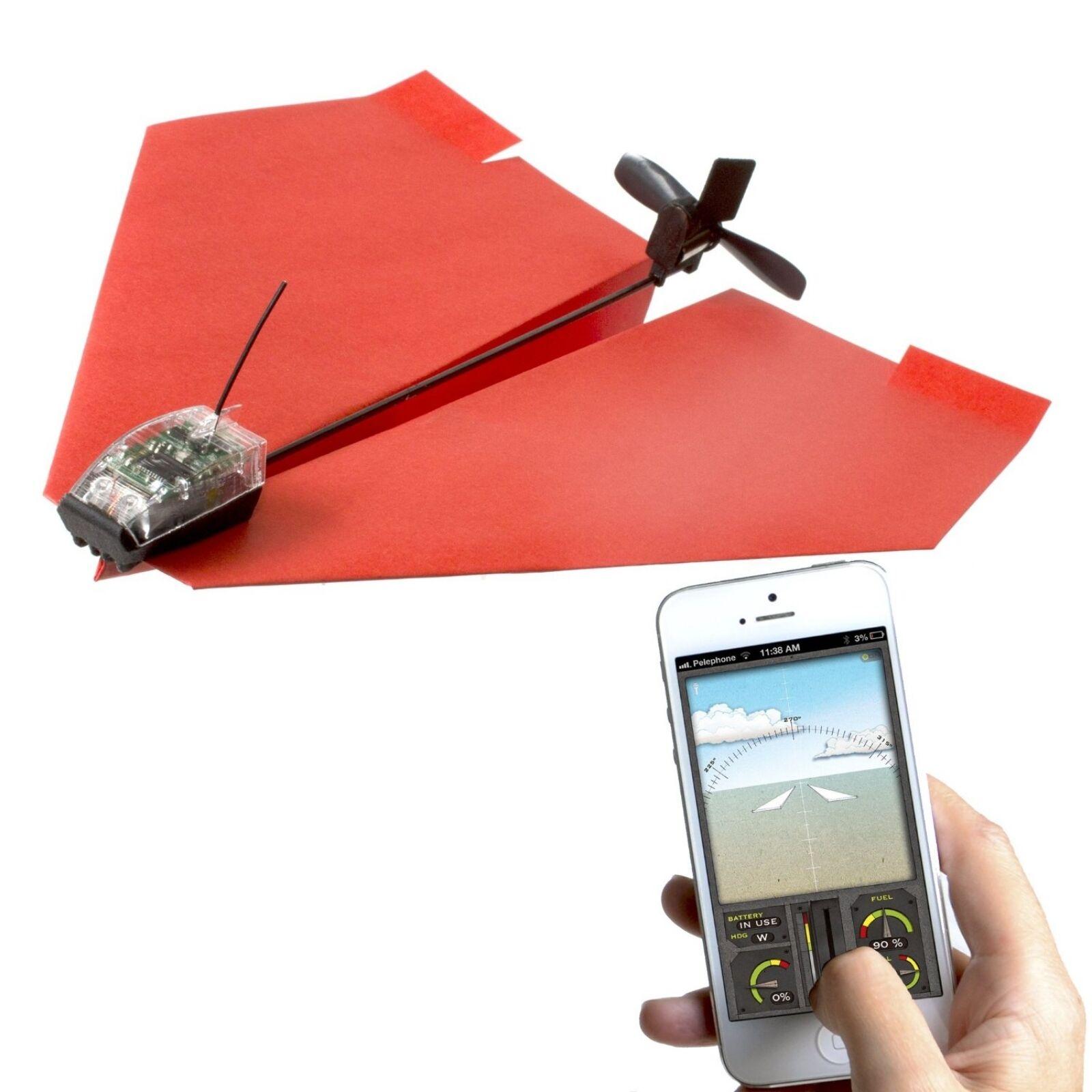 Powerup 3.0 Smartphone controlada avión de papel de azultooth Smart Ios & Android