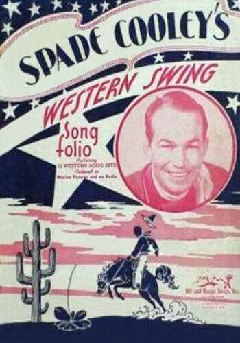 MAGNET REPRODUCTION Spade Cooley Western Swing Song Folio Cover 1945