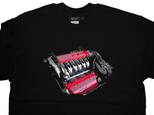 ALL OPTIONS Alfa Romeo V6 Engine T-shirt T shirt GTV GTA 166 156 GTA